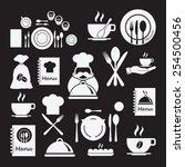 restaurant icons set. | Shutterstock .eps vector #254500456