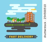 fast delivery infographics ...   Shutterstock .eps vector #254500510