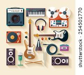 Musical Instruments. Flat...