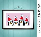 cute family portrait of... | Shutterstock . vector #254501908