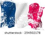 france grunge flag on... | Shutterstock .eps vector #254502178