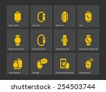smart watch with phone icons....