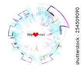 loving music concept...   Shutterstock . vector #254509090