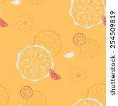 seamless retro pattern of... | Shutterstock .eps vector #254509819