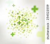 vector positive sign ... | Shutterstock .eps vector #254523559