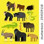 vector set of different african ... | Shutterstock .eps vector #254529118