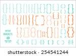 vintage brackets hand drawn... | Shutterstock .eps vector #254541244
