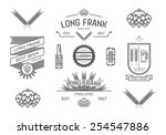 vector brewery labels.part ii | Shutterstock .eps vector #254547886