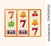 casino slot machine theme... | Shutterstock .eps vector #254550910