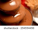Chocolate Fountain Placed On A...