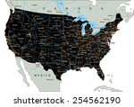 high detailed united states of... | Shutterstock .eps vector #254562190