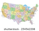 united states of america  ... | Shutterstock .eps vector #254562208