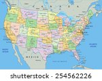 united states of america  ... | Shutterstock .eps vector #254562226