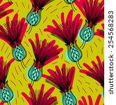 vector seamless pattern. floral ... | Shutterstock .eps vector #254568283