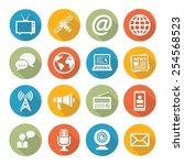 media icons | Shutterstock .eps vector #254568523