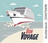 cruise ship illustration with... | Shutterstock .eps vector #254570698