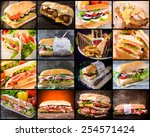 large group of sandwiches in... | Shutterstock . vector #254571424