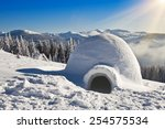 Real Igloo On The Snow