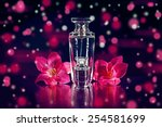 perfume and pink flowers | Shutterstock . vector #254581699