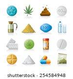 drug icons | Shutterstock .eps vector #254584948