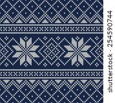 knitted sweater design. vector... | Shutterstock .eps vector #254590744
