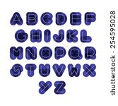 font from dark thick figures... | Shutterstock .eps vector #254595028