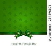 irish for leaf lucky clovers... | Shutterstock .eps vector #254596876