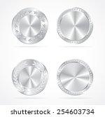 silver coins vector set. | Shutterstock .eps vector #254603734