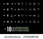 vector arrow icons set