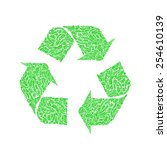vector recycle symbol with... | Shutterstock .eps vector #254610139