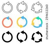 Vector Circle Arrows Refresh...