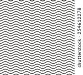 Black seamless wavy line pattern vector illustration | Shutterstock vector #254612278