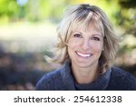 portrait of a mature woman... | Shutterstock . vector #254612338