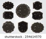 grunge labels set.vintage...   Shutterstock .eps vector #254614570