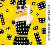 Polka Dots Vintage Lady....