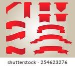 set of red ribbons.ribbon...   Shutterstock .eps vector #254623276