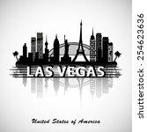 las vegas skyline  | Shutterstock .eps vector #254623636
