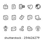 communication vector icons.... | Shutterstock .eps vector #254626279