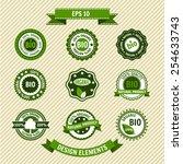 bio product. set of vector... | Shutterstock .eps vector #254633743