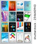 set of flyer design  web... | Shutterstock .eps vector #254640943