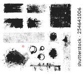 set of vector textures  stains... | Shutterstock .eps vector #254641006