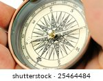 compass on palm | Shutterstock . vector #25464484