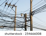 Small photo of complicate electricity post complicate electricity cable