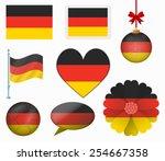 germany flag set of 8 items... | Shutterstock .eps vector #254667358