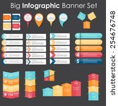 big set of infographic banner... | Shutterstock .eps vector #254676748