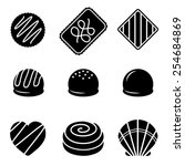 vector chocolate icons 2 | Shutterstock .eps vector #254684869