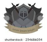 medieval knight logo. helmet ...   Shutterstock .eps vector #254686054