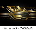dark gold color light abstract... | Shutterstock .eps vector #254688610