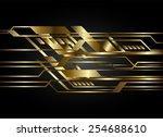 dark gold color light abstract... | Shutterstock .eps vector #254688610