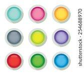 colorful set of modern blank... | Shutterstock .eps vector #254688970